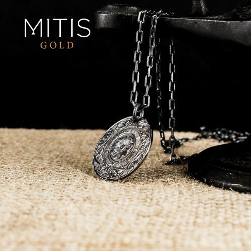 Bitkisel Orlementli Gümüş Kadın Kolye ( Zincirsiz)
